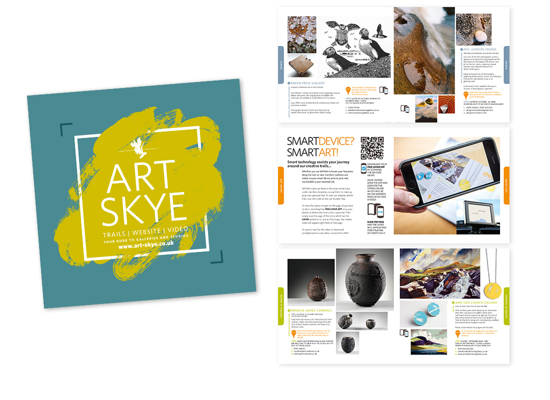 The Art Skye booklet has become an institution throughout the North of Scotland and is the main print communication of The Skye & Lochalsh Arts and Crafts Association.