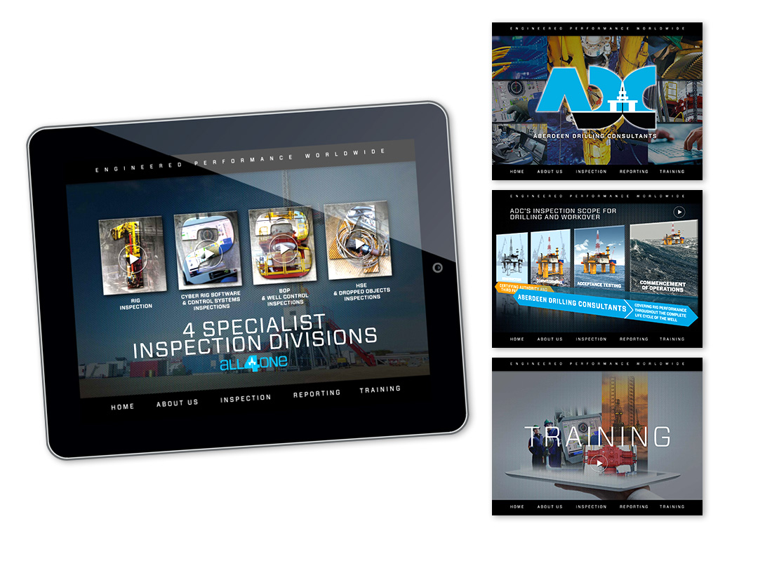 A fully interactive iPad App designed and built for ADC to use as a sales tool with key customers.